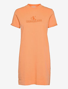ARCHIVES ECO DYE T-SHIRT DRESS - sommerkjoler - crushed orange
