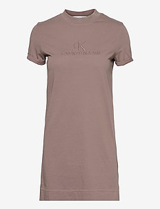 ARCHIVES ECO DYE T-SHIRT DRESS - sommerkjoler - dusty brown
