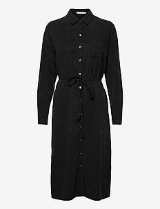 TENCEL MAXI SHIRT DRESS - robes chemises - ck black