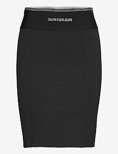 MILANO BODYCON ELASTIC SKIRT - jupes midi - ck black