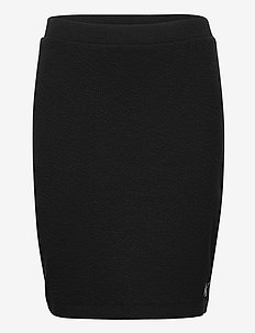 SLUB RIB MINI SKIRT - pencil skirts - ck black