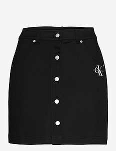 COTTON TWILL MINI SKIRT - jeansrokken - ck black