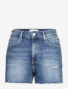 HIGH RISE SHORT - denimshorts - denim medium