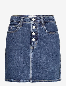 HIGH RISE MINI SKIRT - jeanskjolar - denim dark