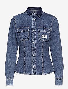 ARCHIVE LEAN SHIRT - jeansblouses - denim medium
