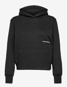 OFF PLACED MONOGRAM HOODIE - sweatshirts & hættetrøjer - ck black