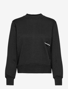 OFF PLACED MONOGRAM CREW NECK - sweatshirts & hoodies - ck black