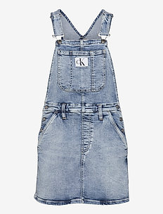 DUNGAREE DRESS - denimkjoler - denim light