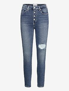 HIGH RISE SKINNY ANKLE - skinny jeans - denim medium