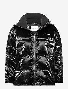 HIGH SHINE PUFFER - wyściełane kurtki - ck black
