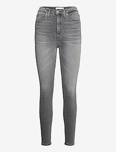 HIGH RISE SUPER SKINNY ANKLE - skinny jeans - denim black