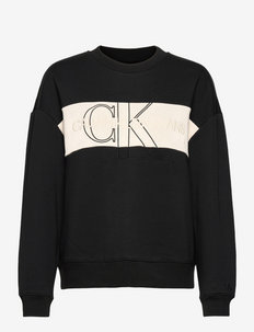 MONOGRAM BLOCKING SWEATSHIRT - sweatshirts & hoodies - ck black
