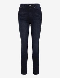 HIGH RISE SKINNY ANKLE - skinny jeans - denim black