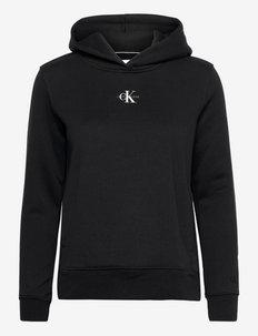 MICRO MONOGRAM HOODIE - sweatshirts & hættetrøjer - ck black