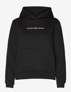 SHRUNKEN INSTIT FLEECE HOODIE - sweatshirts et sweats à capuche - ck black/muslin