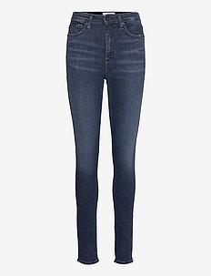 HIGH RISE SKINNY - skinny jeans - denim dark