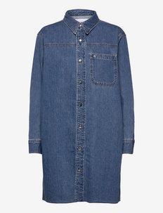 DAD SHIRT DRESS - skjortekjoler - denim light
