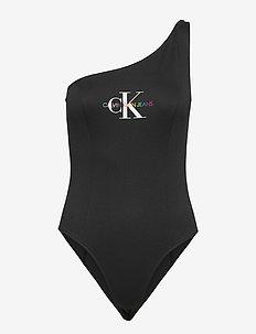 PRIDE ASYMMETRICAL BODY - badeanzüge - ck black