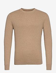 SINTER 1 CN SWEATER LS - knitted round necks - tannin