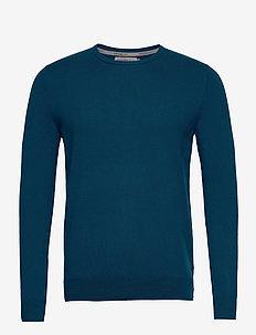 STAG CN SWEATER LS - knitted round necks - sailor blue