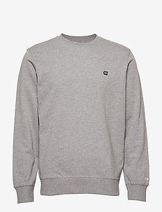CKJ CHEST EMBROIDERY - GREY HEATHER
