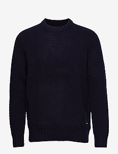 TEXTURED CREW NECK - NIGHT SKY