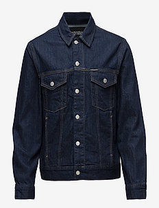 Classic Trucker Warh - denim jackets - rinse white print