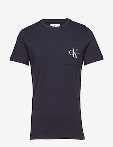 MONOGRAM POCKET SLIM SS TEE - NIGHT SKY
