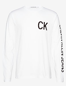 CK JEANS ON THE BACK - BRIGHT WHITE/BLACK