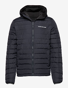 PADDED HOODED JACKET - NIGHT SKY / BLACK