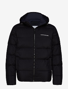 HOODED DOWN PUFFER J - CK BLACK