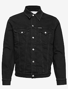 FOUNDATION SLIM DENIM JACKET - AA080 BLACK