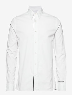 MONOGRAM TAPE REG SHIRT - BRIGHT WHITE