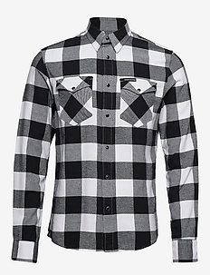 FLANNEL WESTERN  CHE - BRIGHT WHITE / BLACK