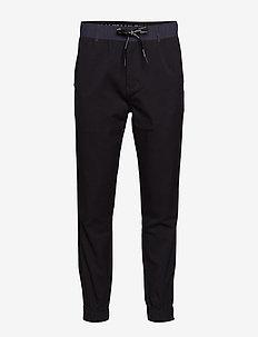 MIX MEDIA WOOL NYLON - sweat pants - ck black