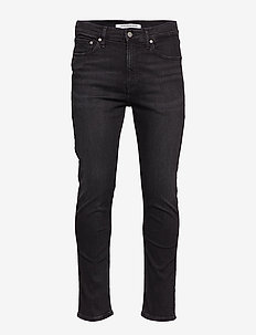 CKJ 016 SKINNY ANKLE - STOCKHOLM BLACK EMBRO LIGHT GR