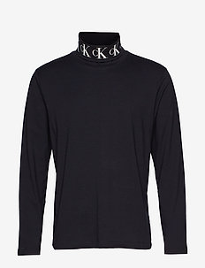 MONOGRAM TURTLE NECK - CK BLACK