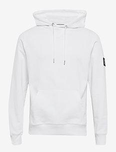MONOGRAM SLEEVE BADG - hoodies - bright white