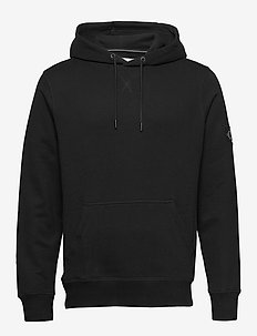 MONOGRAM SLEEVE BADG - hoodies - ck black / poseidon