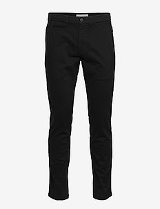 016 SKINNY WASHED STRETCH CHINO - chino's - ck black