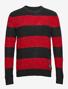 BOLD STRIPE COTTON CN - RACING RED / CK BLACK