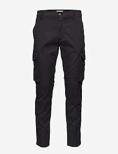 SKINNY WASHED CARGO PANT - CK BLACK