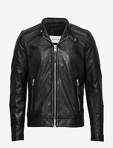 SIMPLE RACER JACKET - vestes en cuir - ck black
