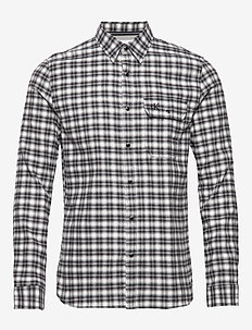 SHADOW CHECKS SLIM NON STRETCH - geruite overhemden - ck black