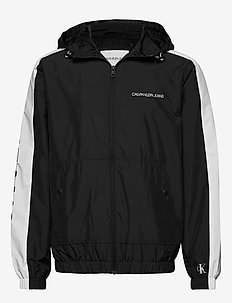 STATEMENT LOGO WINDBREAKER - CK BLACK / WHITE