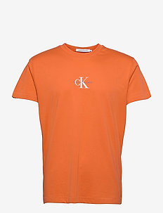 SMALL CHEST MONOGRAM SS - t-shirts basiques - rusty orange
