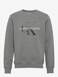 ICONIC MONOGRAM CREWNECK - swetry - mid grey heather