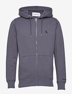 CK ESSENTIAL REG ZIP THROUGH - perus-college-paitoja - abstract grey