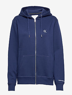 CK ESSENTIAL REG ZIP THROUGH - basic sweatshirts - blueprint