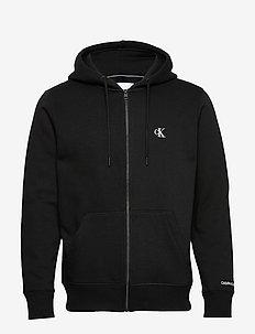 CK ESSENTIAL REG ZIP THROUGH - basic sweatshirts - ck black